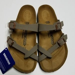 New Birkenstock Mayari Stone Gray Sandals 35